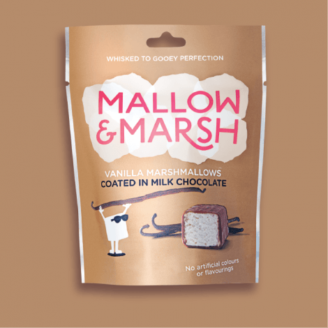 mallow and marsh vanilla marshmallows coated in milk chocolate
